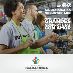 28 de agosto: DIA NACIONAL DO VOLUNTARIADO